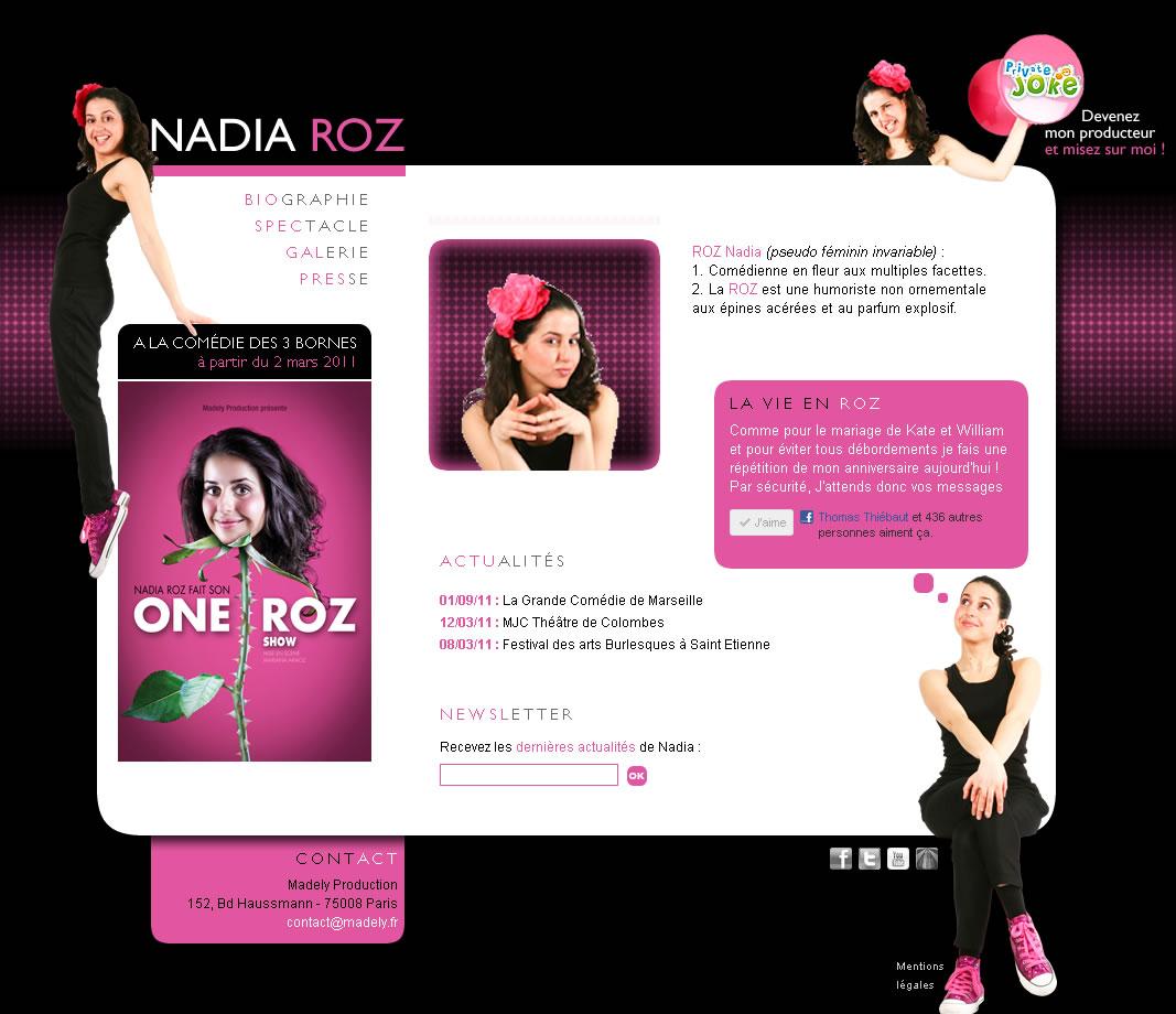 Nadia ROZ – humoriste comédienne